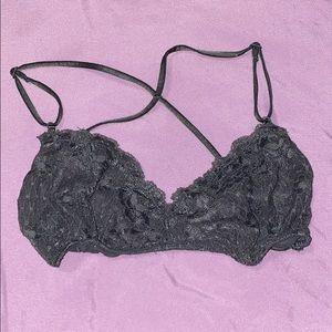 Free People Intimately Gray Lace Bralette medium